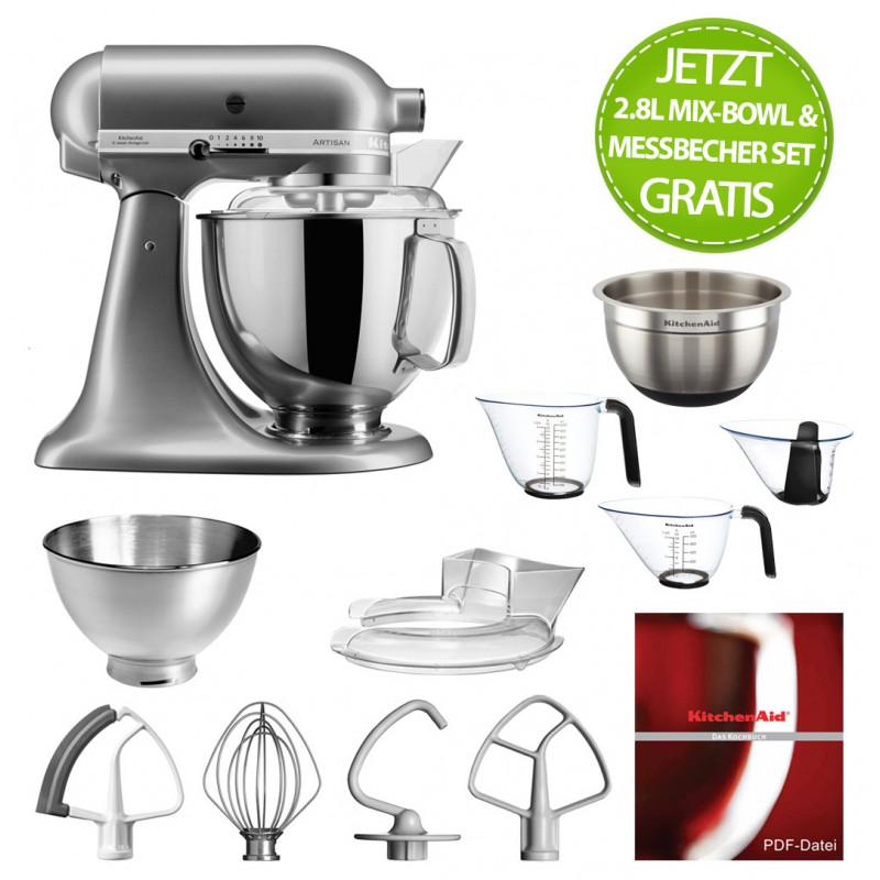 KitchenAid Artisan Küchenmaschine 175PS kontursilber 4,8 Liter