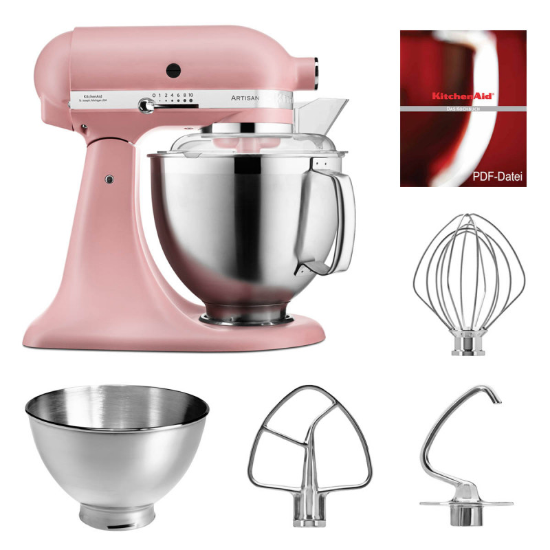 KitchenAid Küchenmaschine 5KSM185PS rose