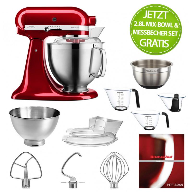 KitchenAid Küchenmaschine 5KSM185PSECA liebesapfelrot m. Gratis-Zubehör