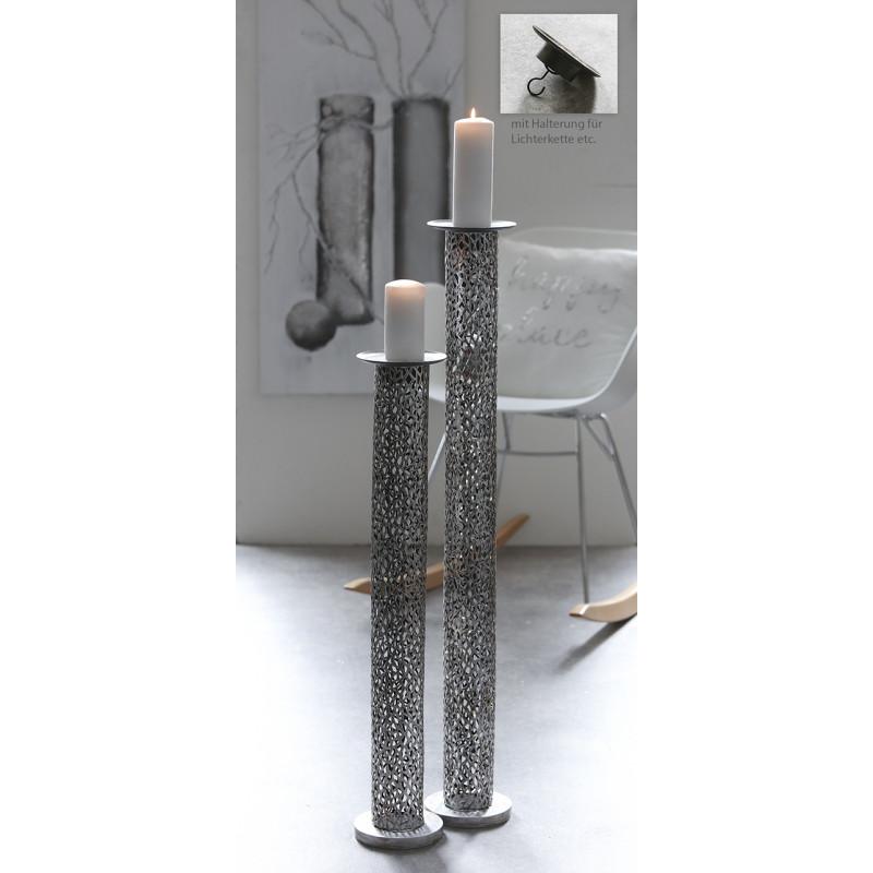 Casablanca Bodenleuchter Purley, Metall. antik, silber, H. 100 cm