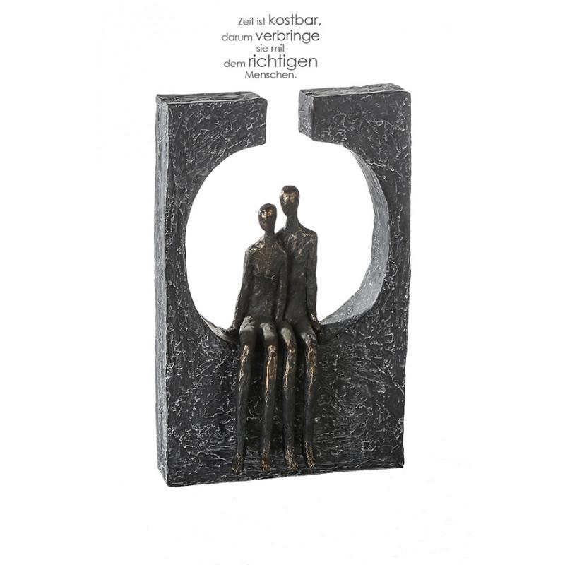 Casablanca Skulptur Zweisamkeit Poly, bronzefarben