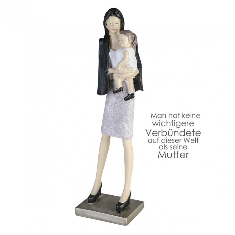 Casablanca Skulptur Mutter und Tochter, Polystone