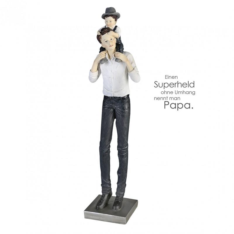 Casablanca Skulptur Vater und Sohn, Polystone