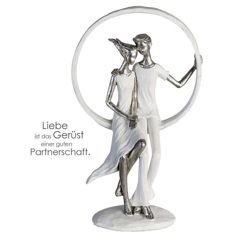 Casablanca Skulptur Hingabe, weiss/silber, Poly
