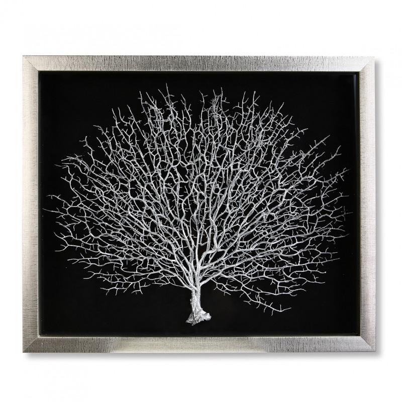 """Casablanca Bild """"Lebensbaum"""" aus Holz und Glas 60 x 50 cm"""