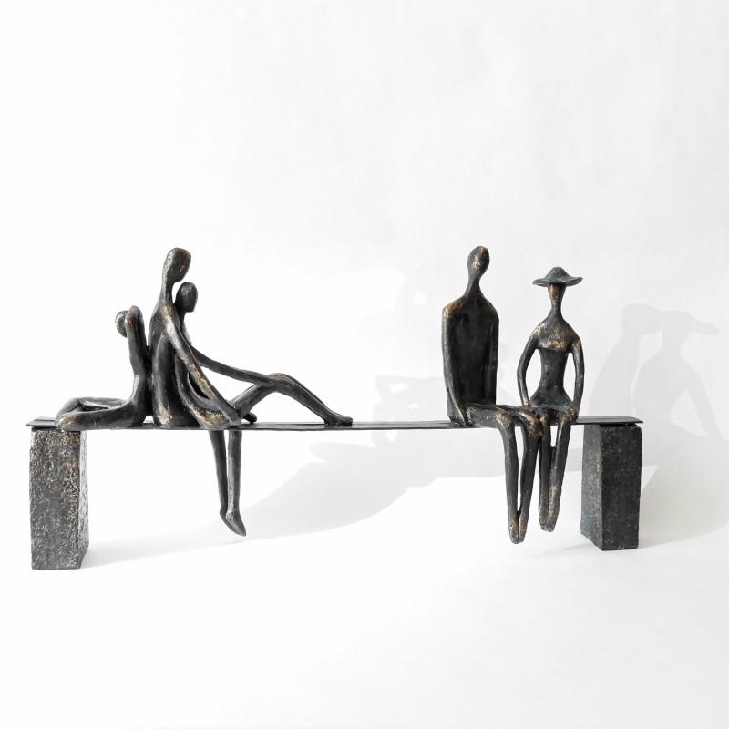 """Casablanca Skulptur """"Leisure"""" Bronze/Schwarz"""