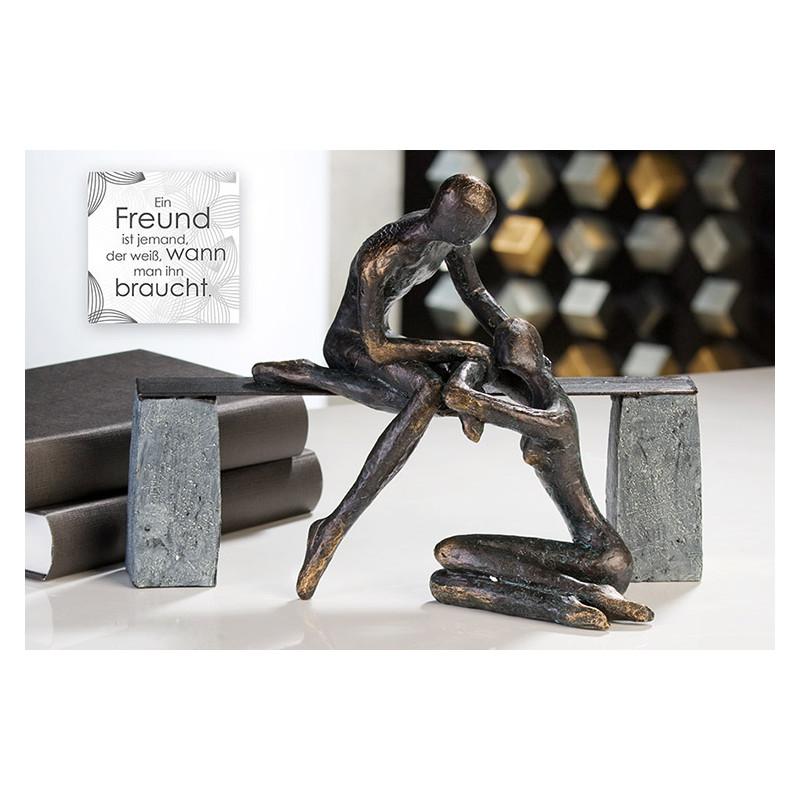 """Casablanca Skulptur """"Freundschaft"""" Poly Bronze"""