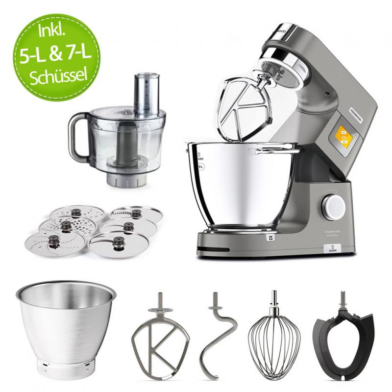 Kenwood Küchenmaschine Titanium Chef PatissierXL KWL90.244SI mit 5-L & 7-L Schüssel