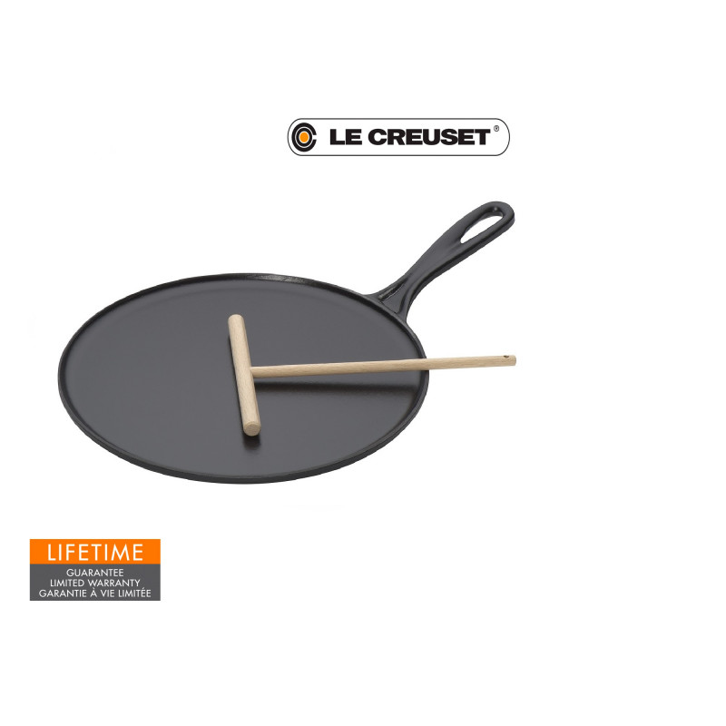 Le Creuset Crêpespfanne 27 cm schwarz