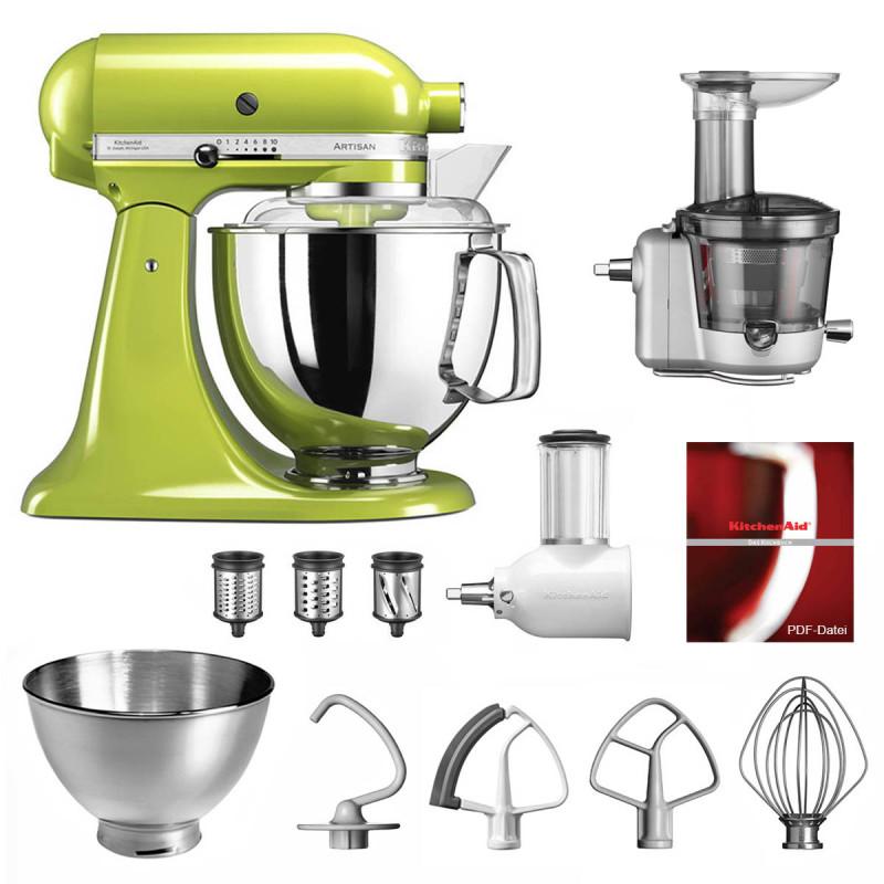 KitchenAid Küchenmaschine 175PS Entsafter Vital-Set apfelgrün