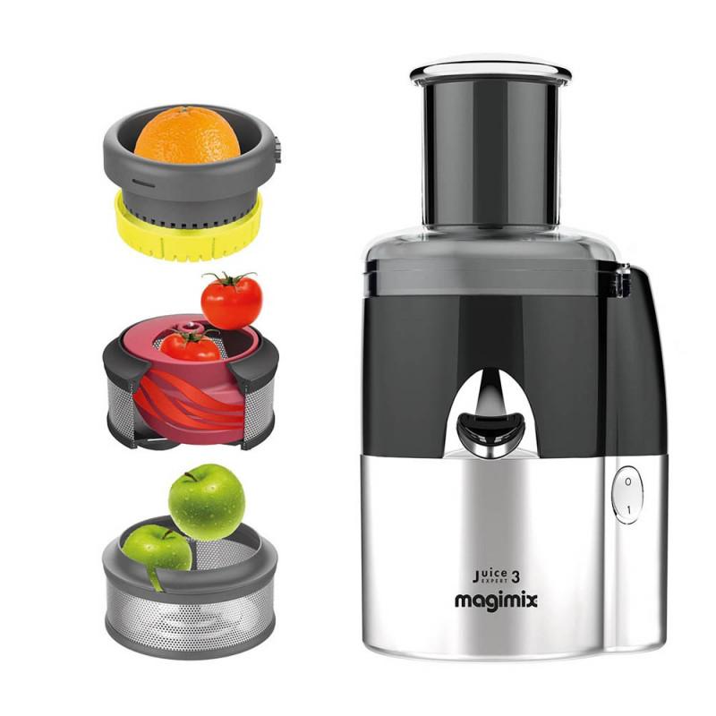 Magimix Juice Expert 3 chrom matt mit gratis Gemüseschneider