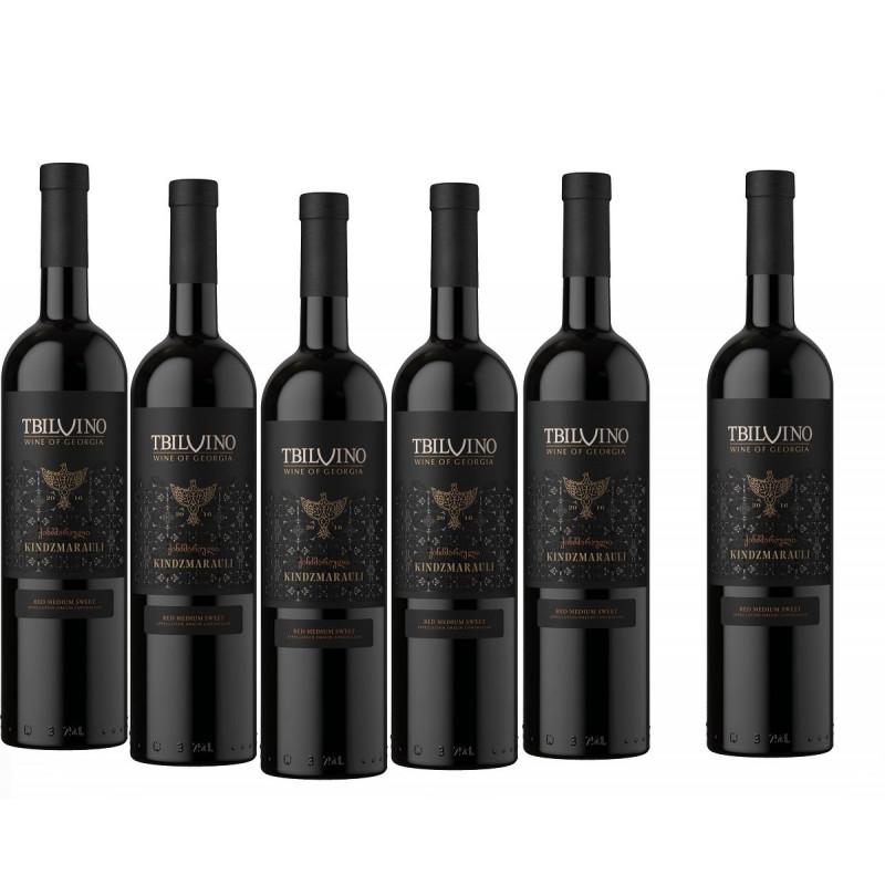 Tbilvino Kindzmarauli Georgien lieblicher Rotwein 0,75 Liter 2017 6er Sparset