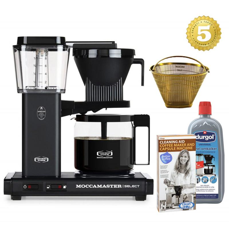 Moccamaster Kaffeemaschine KBG Select Mattschwarz Aktionspaket