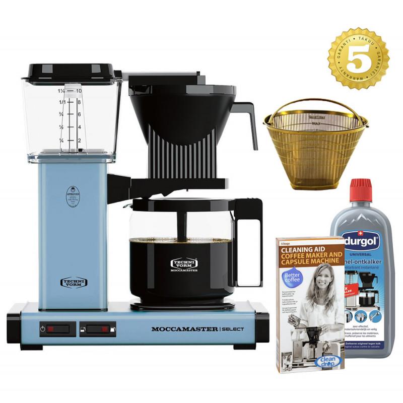 Moccamaster Kaffeemaschine KBG Select Pastellblau Aktionspaket