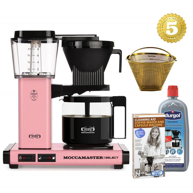 Moccamaster Kaffeemaschine KBG Select Rosa/Pink Aktionspaket