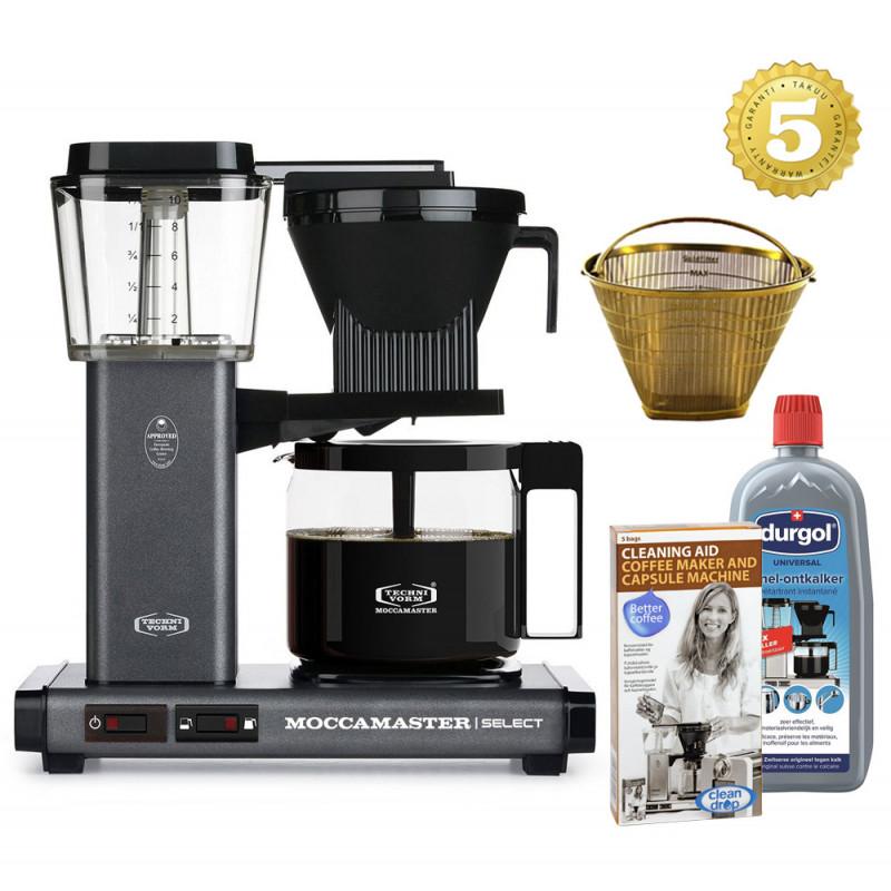 Moccamaster Kaffeemaschine KBG Select Steingrau Aktionspaket