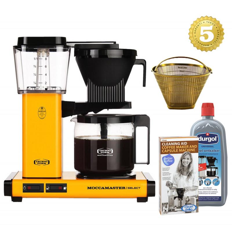 Moccamaster Kaffeemaschine KBG Select mit Zubehör - Yellow Pepper