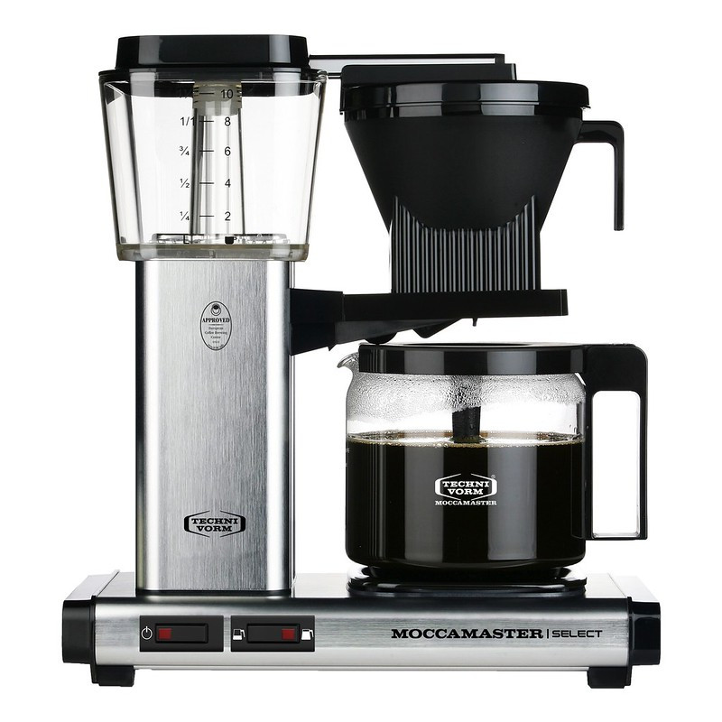 Moccamaster Filterkaffeemaschine Brushed Aluminium gebürstet, 53979, 8712072539792,