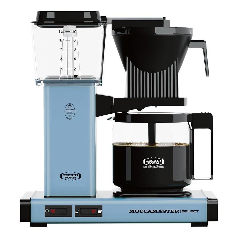 Moccamaster Kaffeemaschine KBG Select Edelstahl Pastellblau