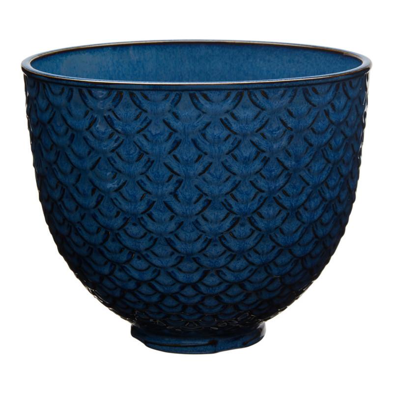 KitchenAid Keramikschüssel 4,7l BlueMermaidLace