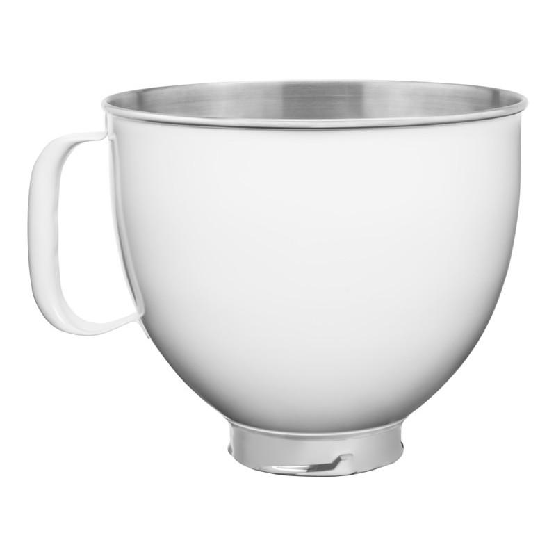 KitchenAid Edelstahlschüssel weiß 4,8l für KitchenAid Artisan 5KSM5SSBWH