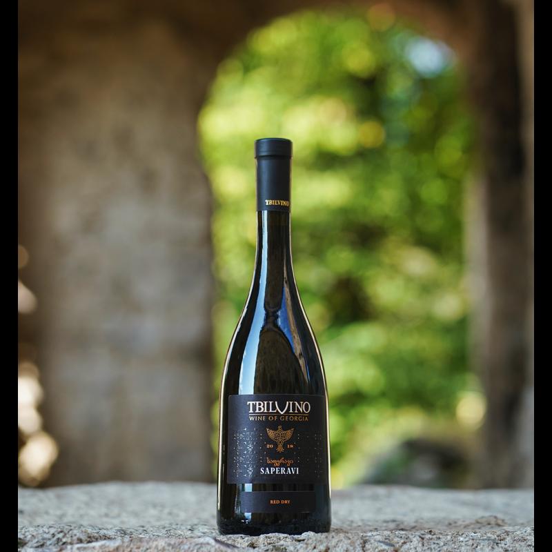 Tbilvino Saperavi Georgien trockener Rotwein 0,75 Liter 2019