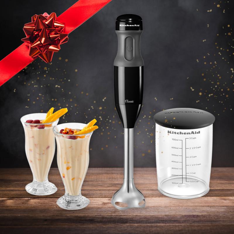 KitchenAid Stabmixer-Set Classic schwarz 5KHB1231EOB mit 700-ml Mixbehälter