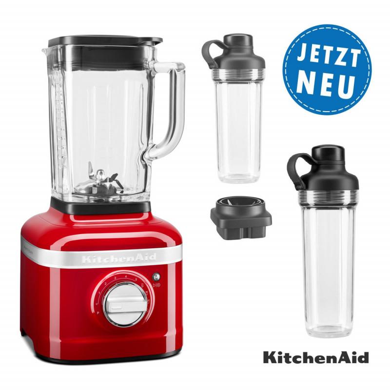 KitchenAid ARTISAN K400 Standmixer 5KSB4026 liebesapfelrot mit 2xTo-Go-Behälter und Klingen