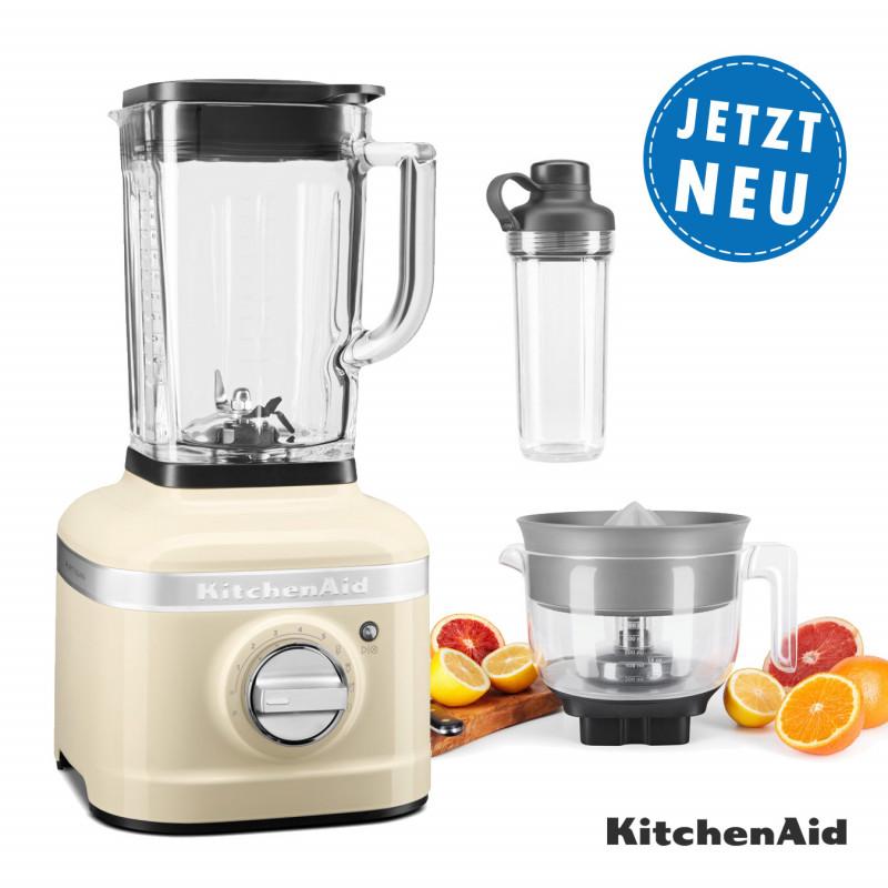 KitchenAid ARTISAN K400 Standmixer 5KSB4026E mit Zitruspresse + 1x To-Go Behälter