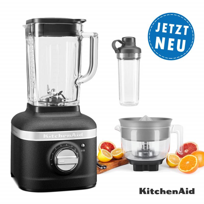 KitchenAid ARTISAN K400 Standmixer 5KSB4026E mit Zitruspresse & 1x To-Go Becher