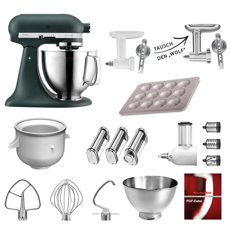 KitchenAid Küchenmaschine 185PS Mega-Paket Palmenstrand