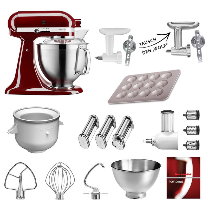 KitchenAid Küchenmaschine 185PS Mega-Paket purpur rot
