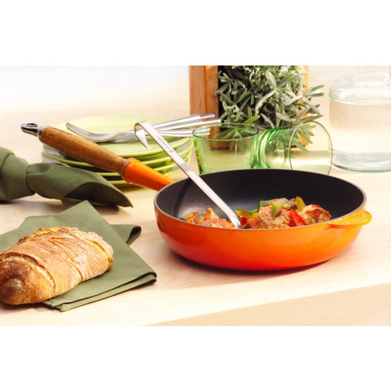 Le Creuset Sautépfanne mit Holzgriff 28 cm