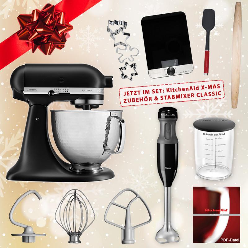 KitchenAid Artisan Küchenmaschine 5KSM156HMEBM Edition 4,8l mit X-MAS Set