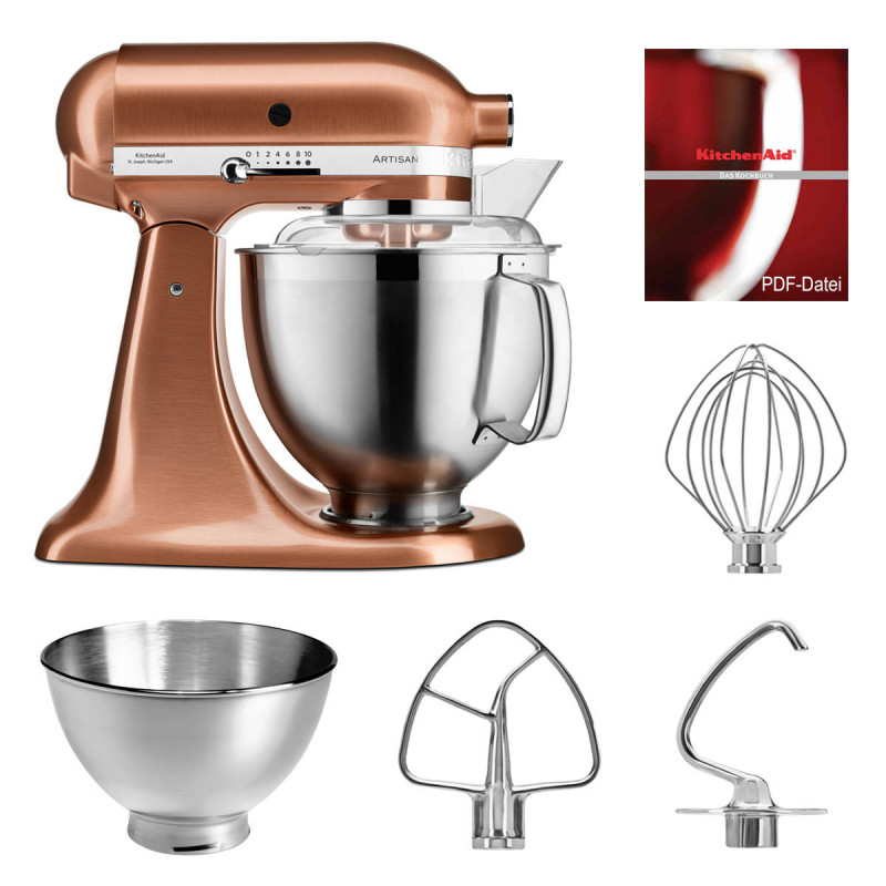 KitchenAid Küchenmaschine 5KSM185PS kupfer