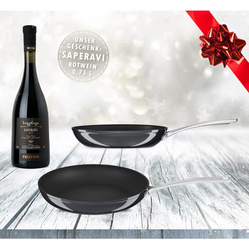 KitchenAid Bratpfanne 30 cm, harteloxiert KC3H112SKEBE + Wein
