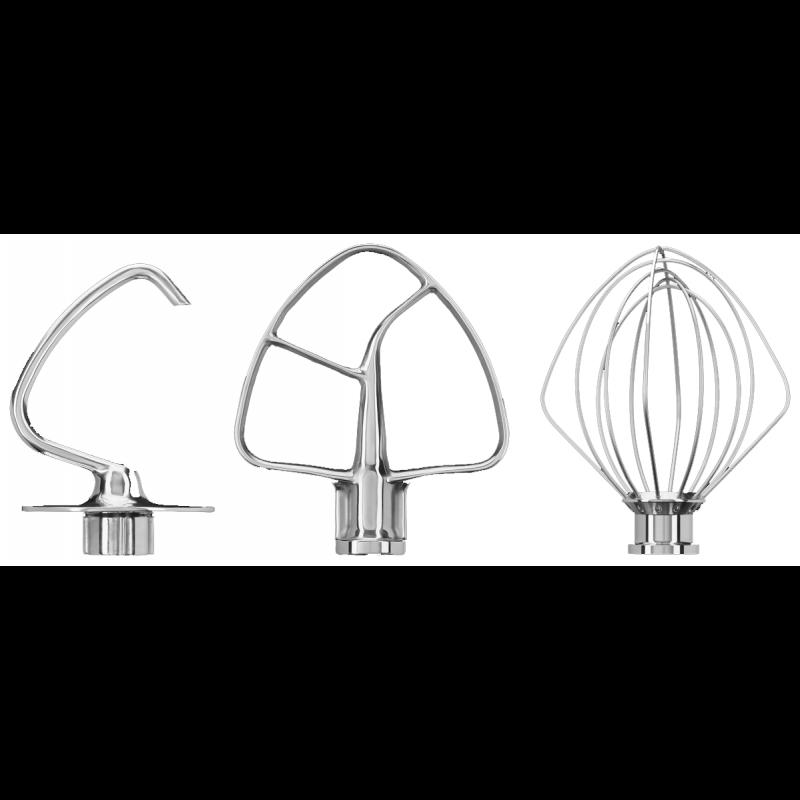 KitchenAid Rührer 3er Set Edelstahl für Artisan 4,8-L-Küchenmaschinen
