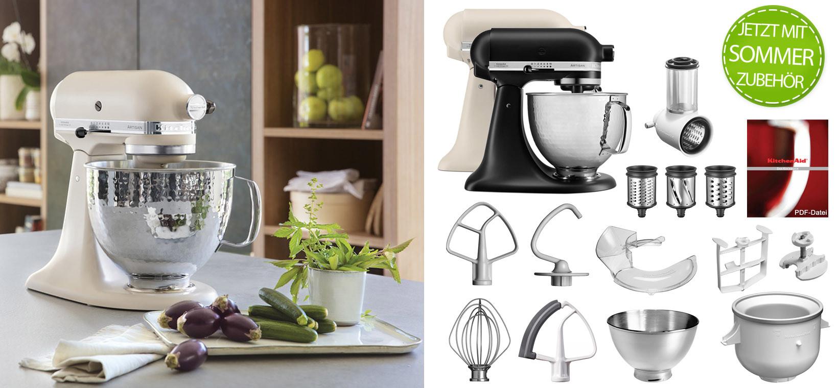 Artisan Küchenmaschine 5KSM156HMEFL mattes Leinen mit 5KSMVSA