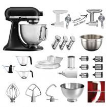 KitchenAid Küchenmaschine 5KSM156HMEBM Mega-Paket