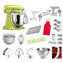 KitchenAid Artisan Küchenmaschine Mega-Paket apfelgrün
