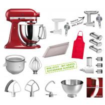 KitchenAid Artisan Küchenmaschine Mega-Paket empire rot