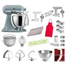 KitchenAid Küchenmaschine 175PS Mega-Paket nebelblau