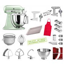 KitchenAid Artisan Küchenmaschine Mega-Paket pistazie