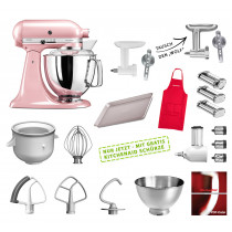 KitchenAid Artisan Küchenmaschine Mega-Paket seidenpink