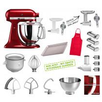 KitchenAid Küchenmaschine 175PS Mega-Paket liebesapfelrot