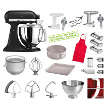 KitchenAid Küchenmaschine 175PS Mega-Paket Gusseisen schwarz