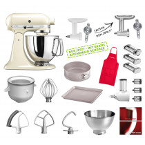 KitchenAid Küchenmaschine 175PS Mega-Paket creme/mandel NEU
