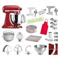 KitchenAid Artisan Küchenmaschine Mega-Paket empire rot NEU