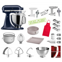 KitchenAid Küchenmaschine 175PS Mega-Paket Ink Blue