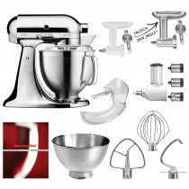 KitchenAid 5KSM185PS CHROM Set Tauusuch den Fleischwolf